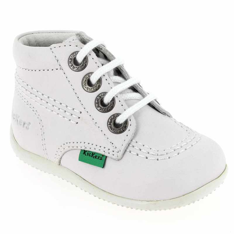 Chaussures Kickers Billy blanches pour bébé ZGInw
