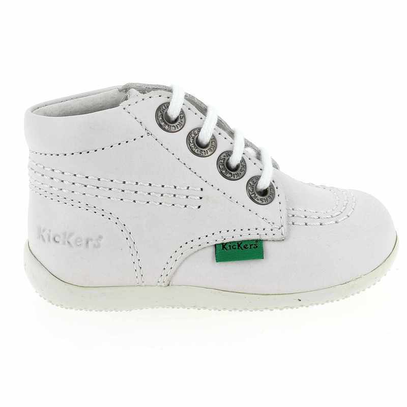 Chaussures Kickers blanches fille ge2CQ