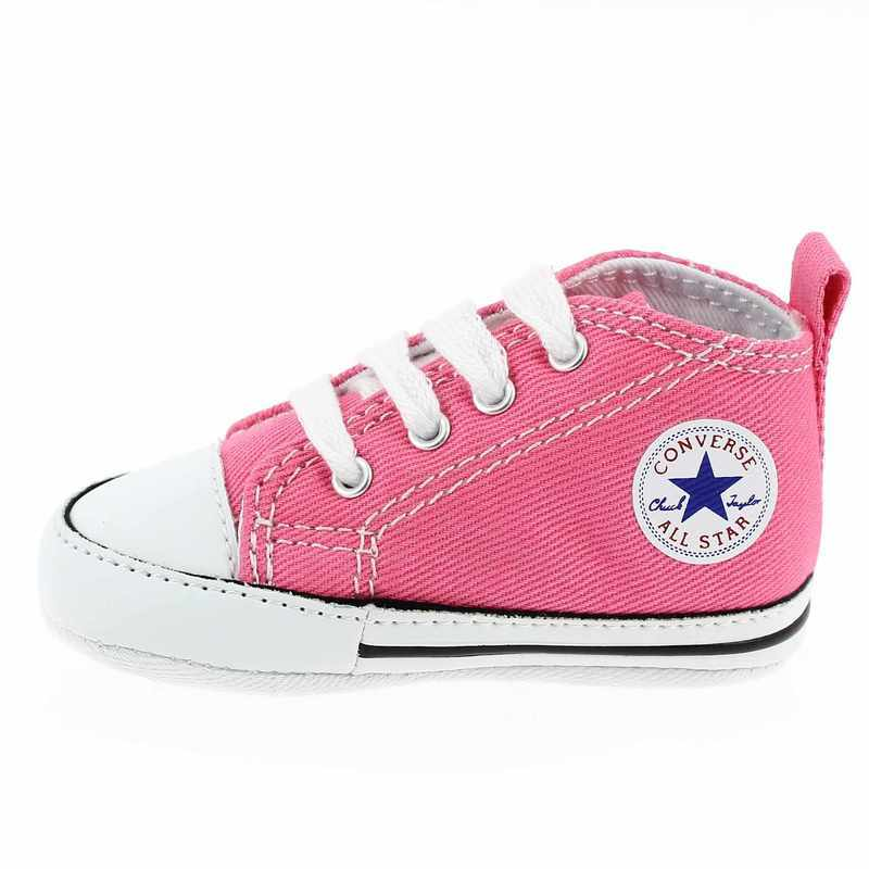 chaussure converse first star rose 3369601 pour b b fille et pour enfant fille jef chaussures. Black Bedroom Furniture Sets. Home Design Ideas