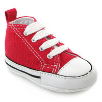 Chaussure Converse modèle FIRST STAR, Rouge