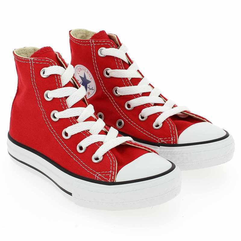 Chaussure Converse ALL STAR HI rouge couleur Rouge - vue 0