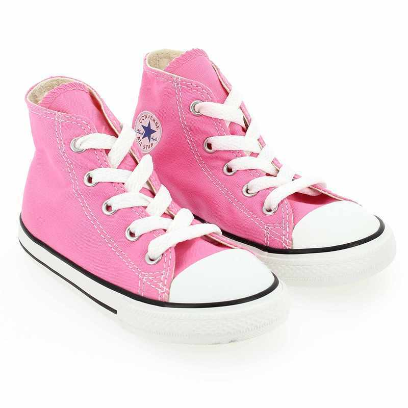 Chaussure Converse ALL STAR HI Rose couleur Rose - vue 0