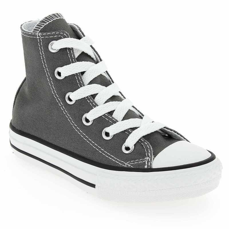 Chaussure Converse ALL STAR HI gris couleur Antracite - vue 1