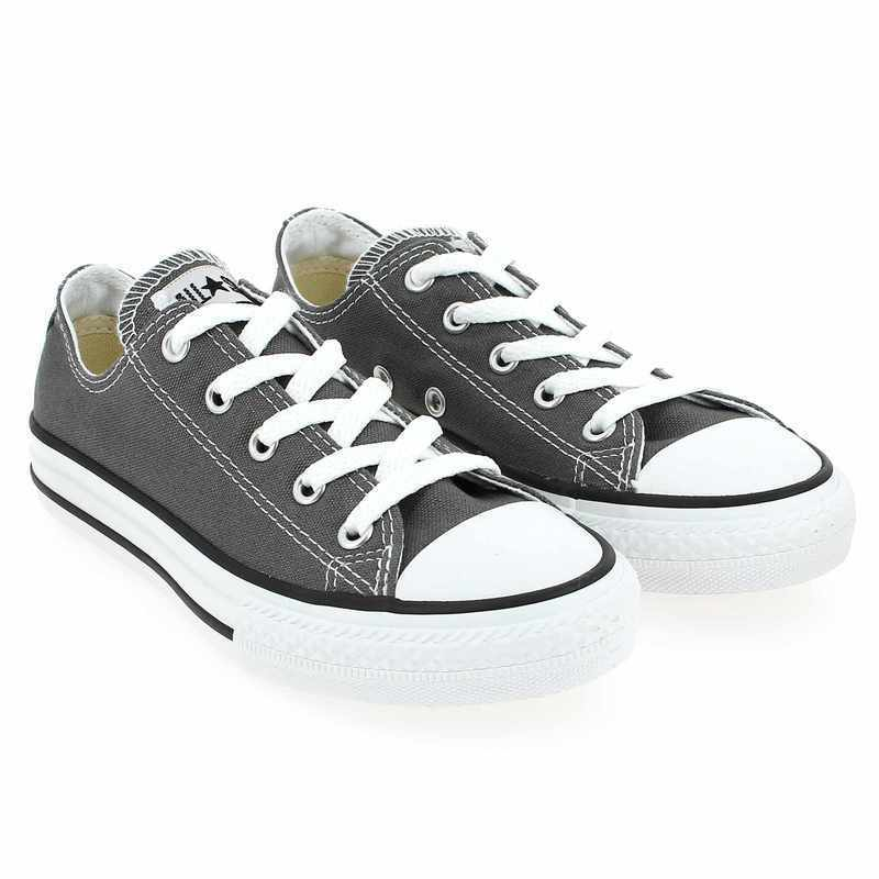 Chaussure Converse ALL STAR OX ENF gris couleur Anthracite - vue 0