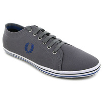 Chaussure Fred Perry modèle KINGSTON TWILL TIPPED, Gris - vue 0