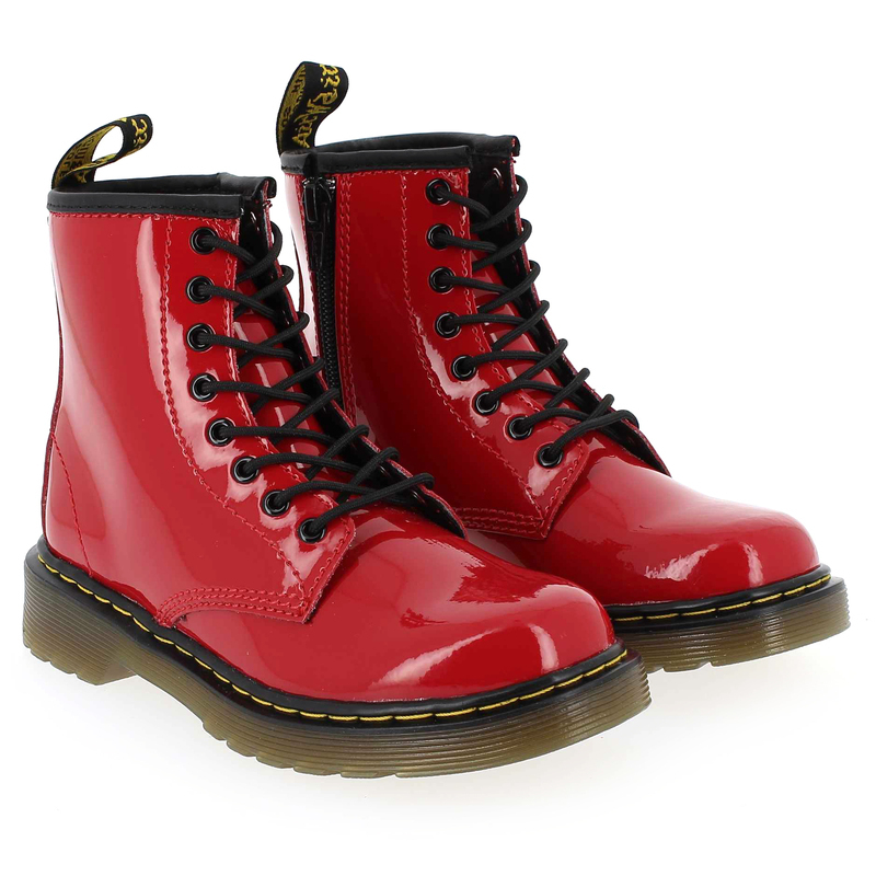 Chaussure Dr Martens BROOKLEE VERNIS Rouge couleur Rouge - vue 6