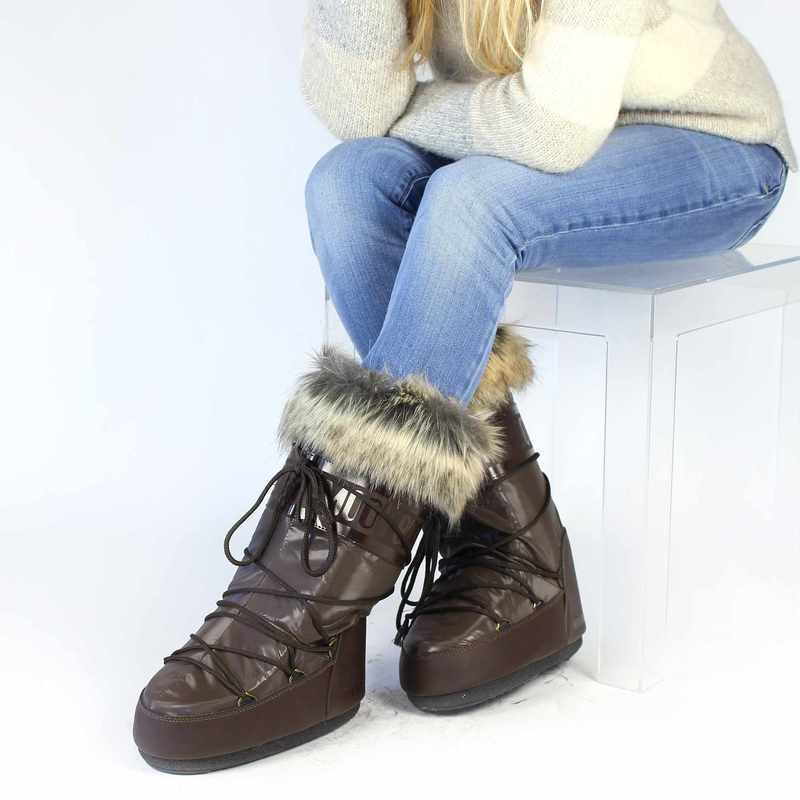 Chaussure Moon Boot MOON BOOT ROMANCE Marron couleur Marron - vue 6