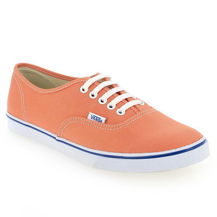 Chaussure Vans modèle AUTHENTIC LO PRO, Orange - vue 0