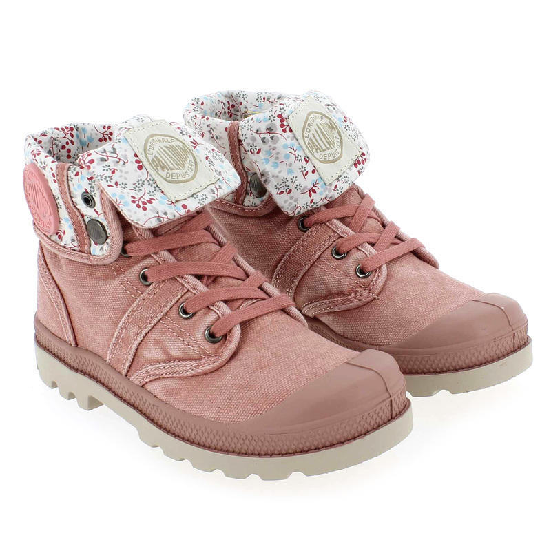 Chaussure Palladium BAGGY KID Rose couleur Rose  - vue 7