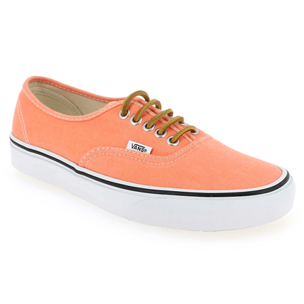 Chaussure Vans modèle AUTHENTIC BRUSHED TWILL, Orange - vue 0