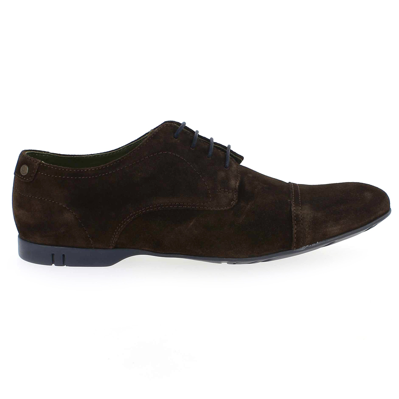 Chaussure Base London PIANO Marron couleur Velours Marron - vue 1