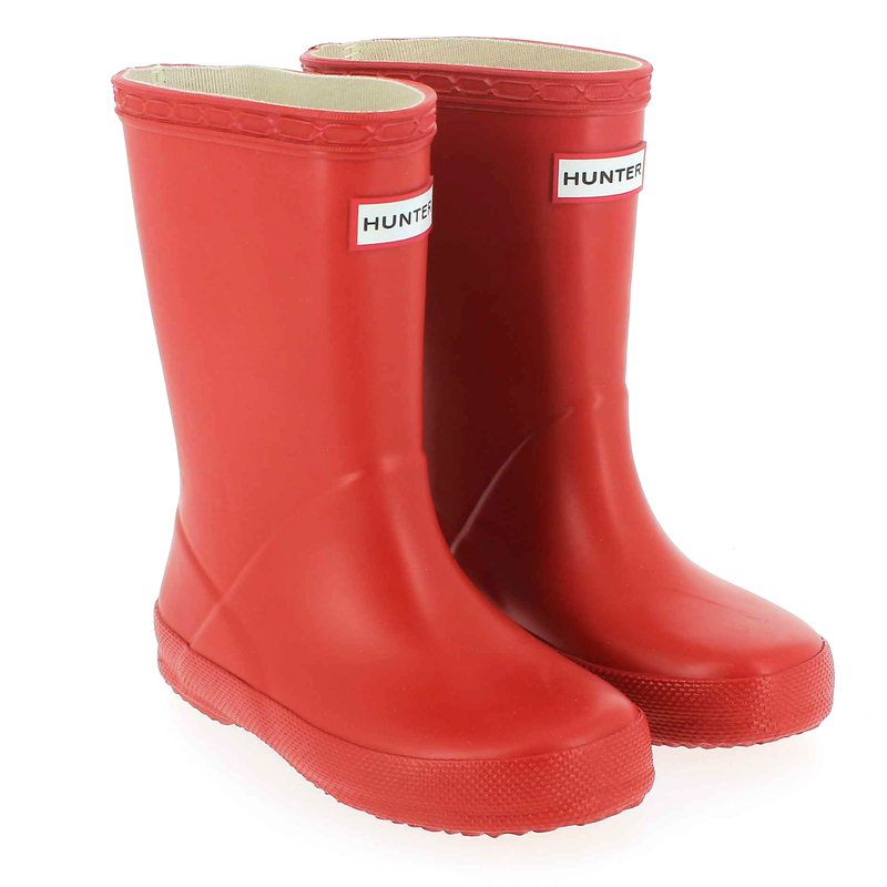 Chaussure Hunter KIDS FIRST CLASSIC WELLY Rouge couleur Rouge - vue 0