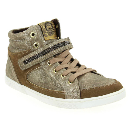 Chaussure Bullboxer modèle AEB 562, Taupe Argent