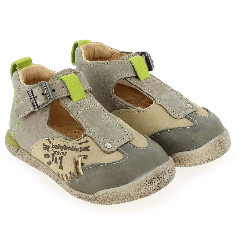 Chaussure Babybotte PEPITO Beige couleur Beige taupe - vue 0