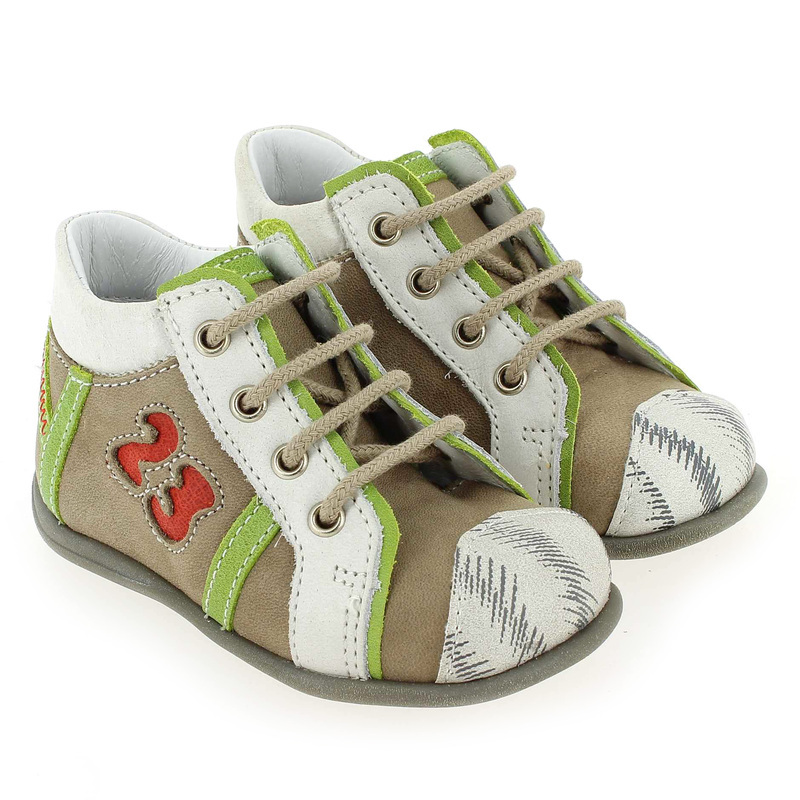 Chaussure Bellamy BAMBI Marron couleur Taupe Blanc - vue 6
