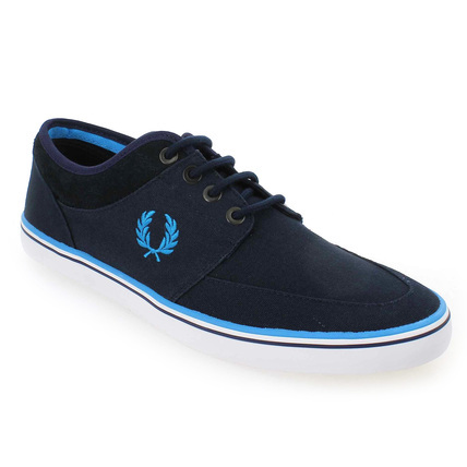 Chaussure Fred Perry modèle STRATFORD CANVAS, Marine - vue 0