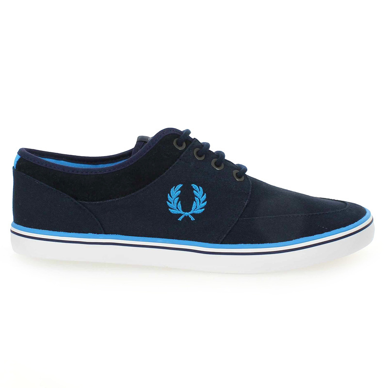 Chaussure Fred Perry STRATFORD CANVAS Bleu couleur Marine - vue 1