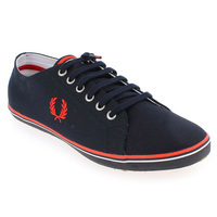 Chaussure Fred Perry modèle KINGSTON TWILL, Marine - vue 0