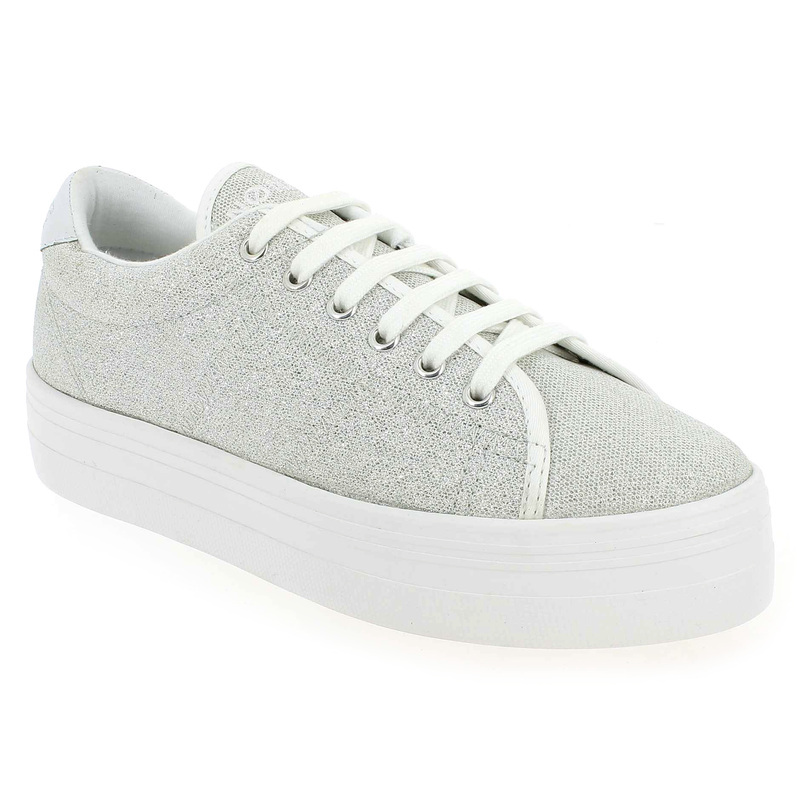 Chaussure No Name PLATO SNEAKER STRASS Argent 4592501 pour Femme