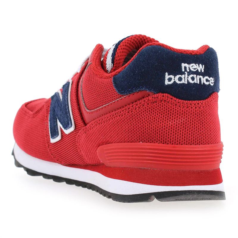 chaussure new balance kl574 rouge 4606701 pour enfant garcon jef chaussures. Black Bedroom Furniture Sets. Home Design Ideas