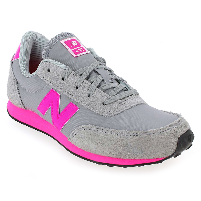 chaussure new balance kl410 gris 4607301 pour enfant fille jef chaussures. Black Bedroom Furniture Sets. Home Design Ideas