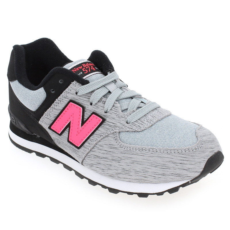 chaussure new balance kl 574 gris 4738901 pour enfant fille jef chaussures. Black Bedroom Furniture Sets. Home Design Ideas
