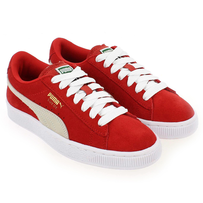 Chaussure Puma SUEDE CLASSIC KID Rouge couleur Rouge - vue 0