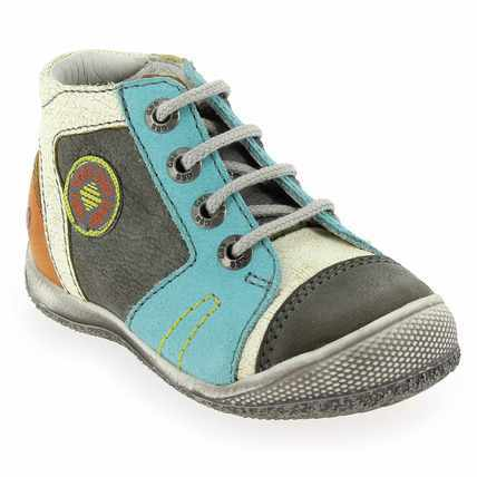 Chaussure GBB modèle MONTGOMERY, Gris Turquoise - vue 0