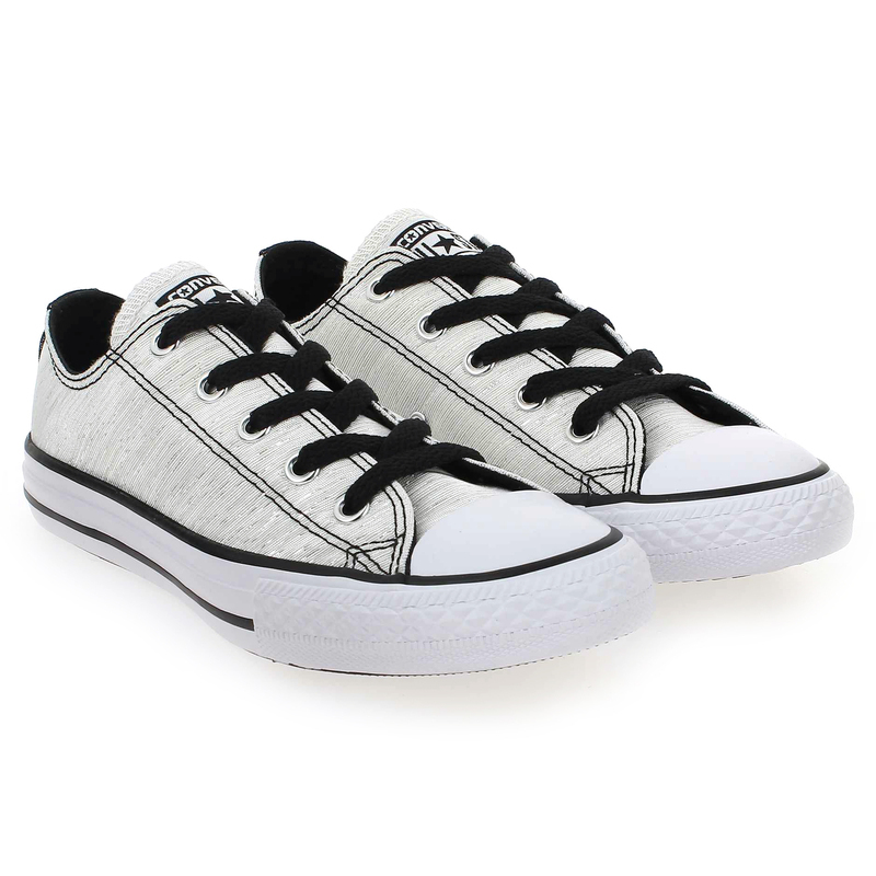 Chaussure Converse ALL STAR OX Argent couleur Blanc Brillant - vue 0