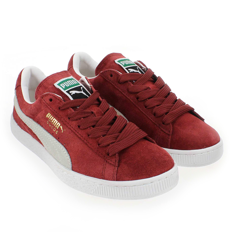 chaussure puma suede classic rouge 4886709 pour femme