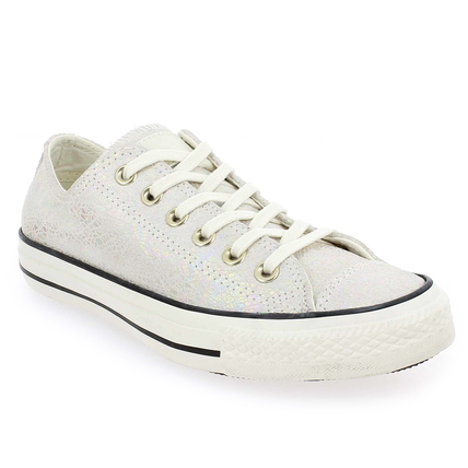 Chaussure Converse modèle CT AS OIL SLICKLEATHER, Blanc nacré - vue 0