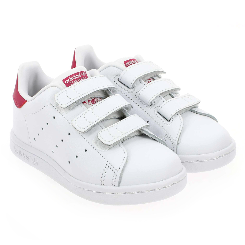 Chaussure Adidas Originals STAN SMITH CF I Blanc couleur Blanc Rose - vue 0