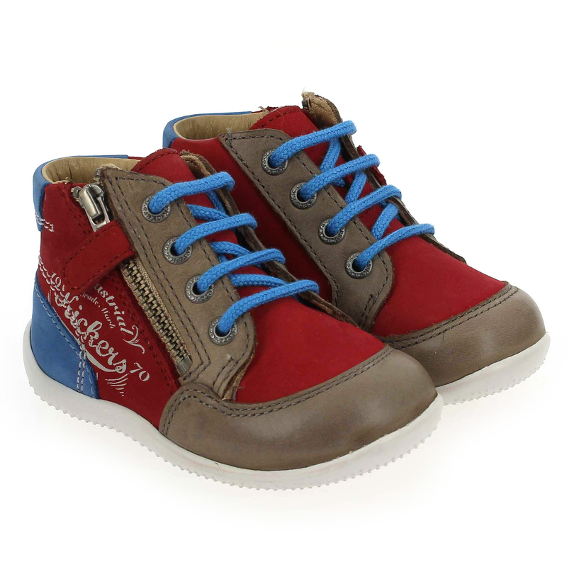 Chaussure Kickers BE FRENCH Rouge couleur Rouge Bleu - vue 0