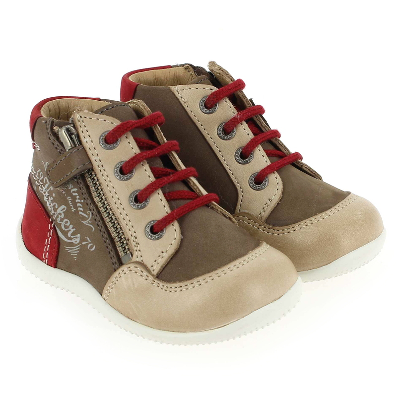 Chaussure Kickers BE FRENCH Marron couleur Marron Beige - vue 6