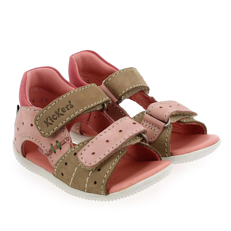 Chaussure Kickers BOPPING Beige couleur Beige Rose - vue 6