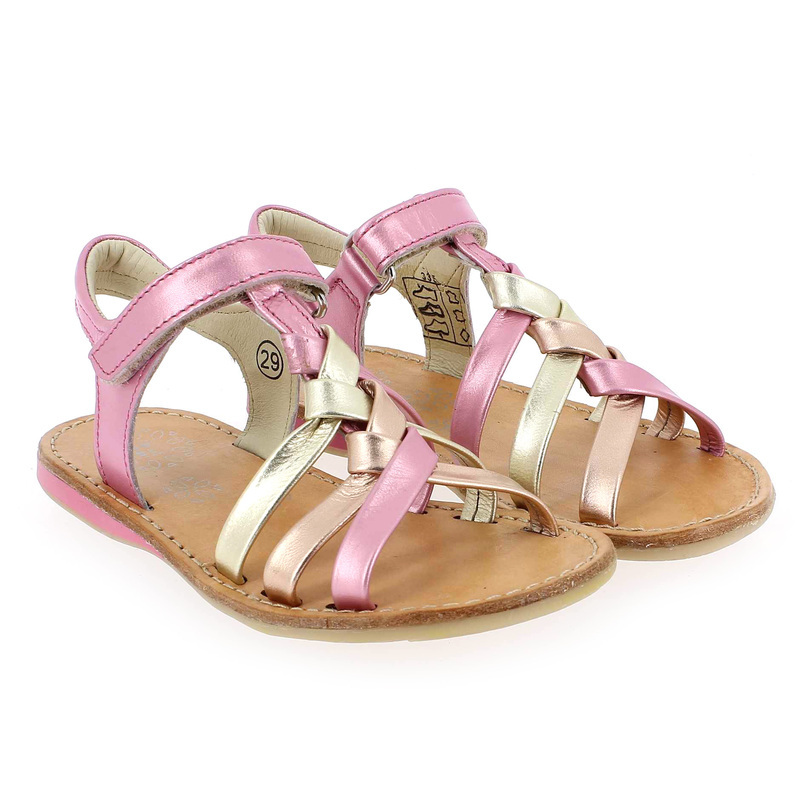 Chaussure Noël Kids  STRASS Rose couleur Rose Or - vue 0