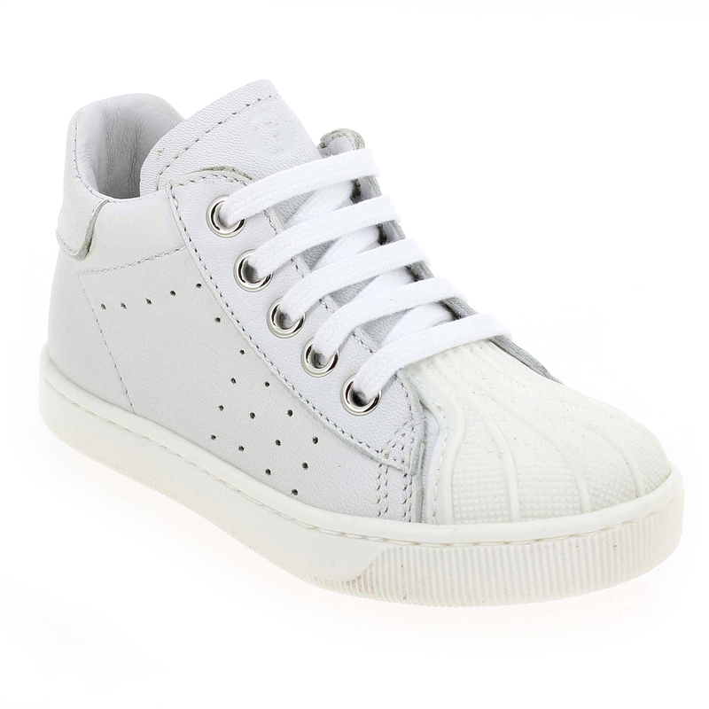 Chaussures basses Blanc en Cuir Falcotto by Naturino - Soldes yBRDM