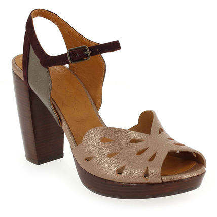 Chaussure Chie Mihara modèle ALOHA, Violet Taupe - vue 0
