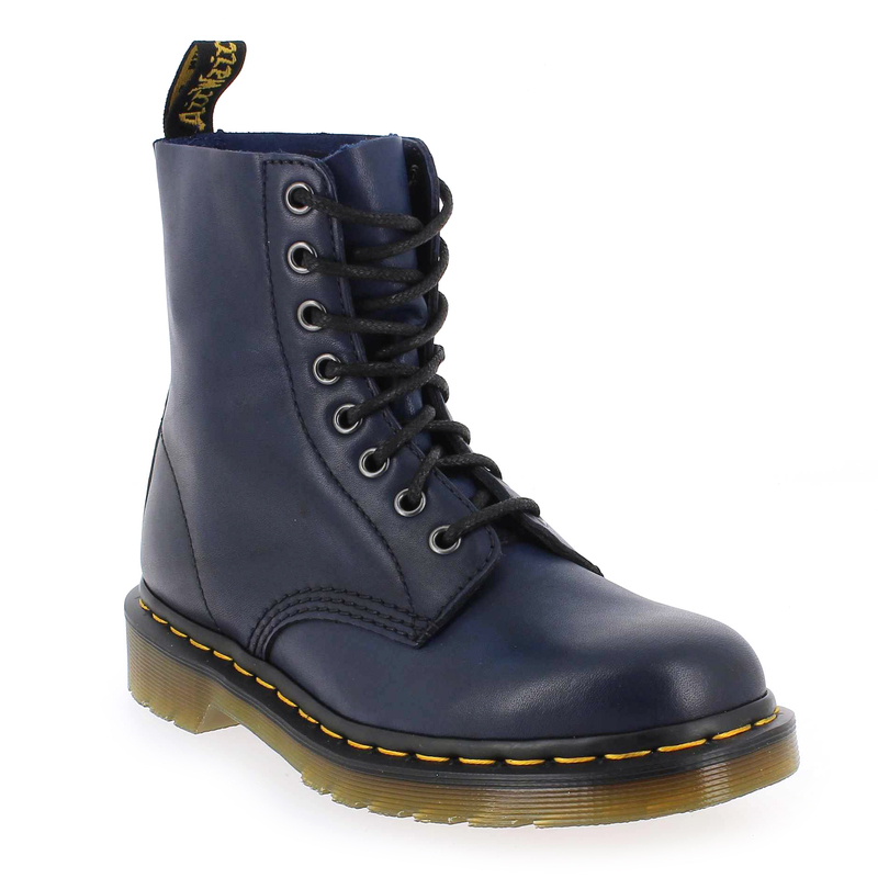 chaussure dr martens pascal bleu 4997101 pour femme jef chaussures. Black Bedroom Furniture Sets. Home Design Ideas
