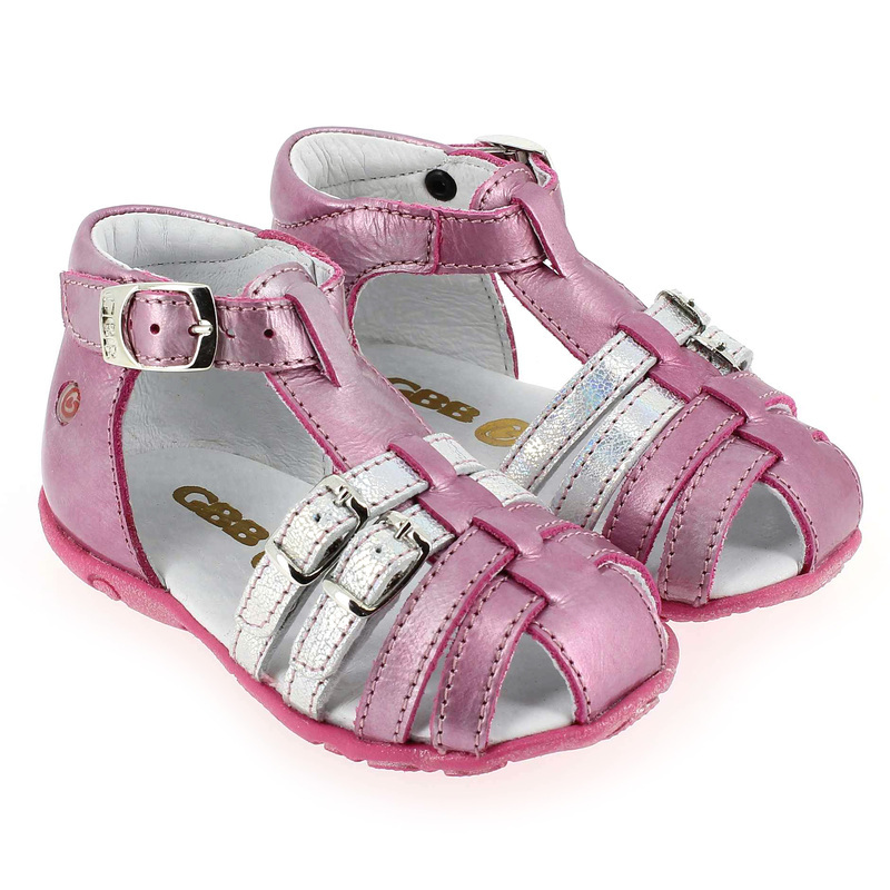 Chaussure GBB ISEE Rose couleur Fuchsia Argent - vue 0