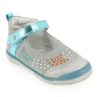 Chaussure Babybotte modèle STRASSY, Gris Turquoise - vue 0