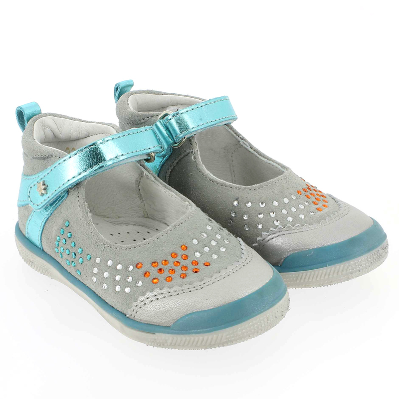Chaussure Babybotte STRASSY Gris couleur Gris Turquoise - vue 0