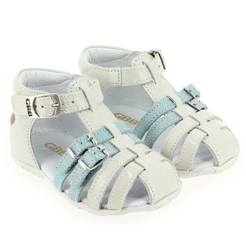 Chaussure GBB ISEE Blanc couleur Blanc Turquoise - vue 6