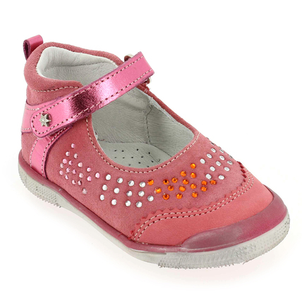 Chaussure Babybotte modèle STRASSY, Rose Corail - vue 0