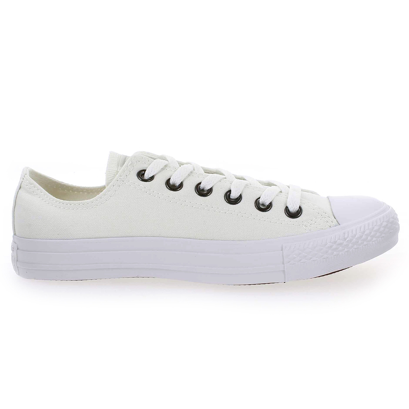 Converse All Star Ox Leather Mono Homme Blanc Chaussures de