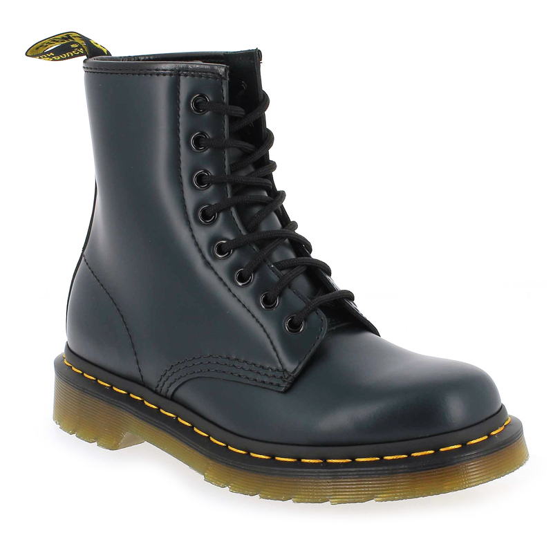 chaussure dr martens 1460 bleu 1058603 pour femme jef chaussures. Black Bedroom Furniture Sets. Home Design Ideas