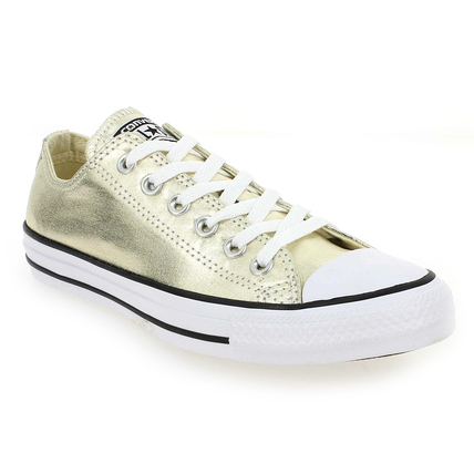 Chaussure Converse modèle CT AS SEASONAL METALLICS, Or - vue 0