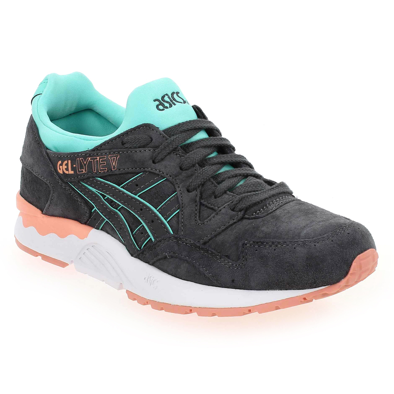chaussure asics gel lyte v gris 5033602 pour femme jef chaussures. Black Bedroom Furniture Sets. Home Design Ideas