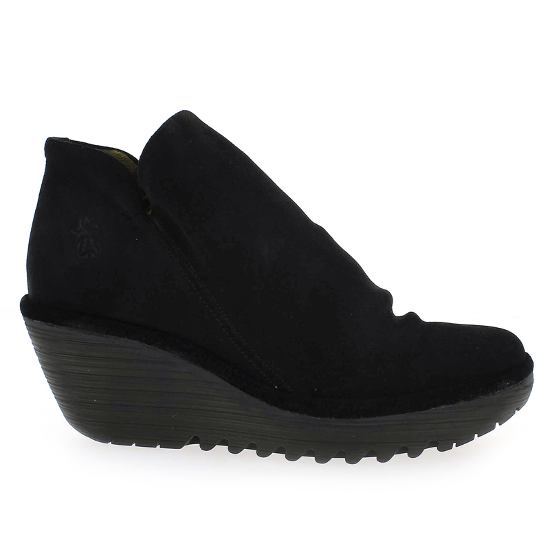 Chaussure Pour Yip London Velours Noir Femme Fly 5063501 WEDH29IeY