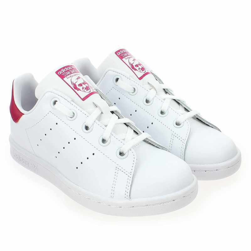 Chaussure Adidas Originals STAN SMITH EL C Blanc couleur Blanc Rose - vue 0